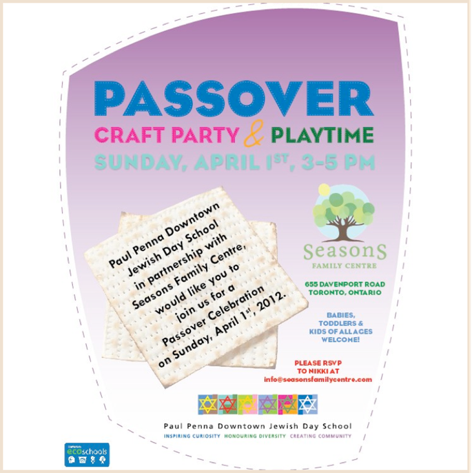 Passover Crafts & Playtime