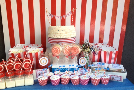 Circus Candy Table